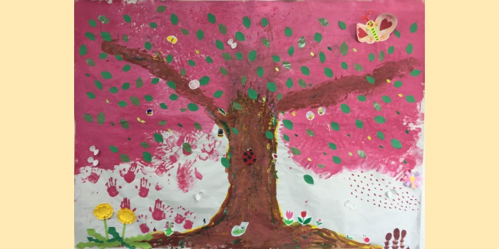 4月お絵かきイベント「桜の木のアレンジ」